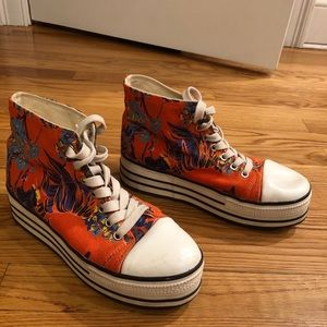 Urban outfitters BDG platform floral sneakers